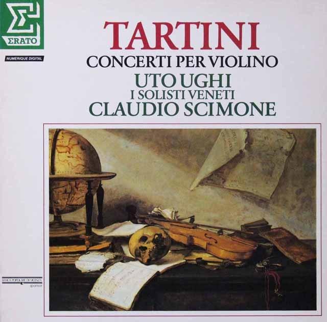 シモーネ&ウーギのタルティーニ/ヴァイオリン協奏曲集 仏ERATO 3298 LP レコード