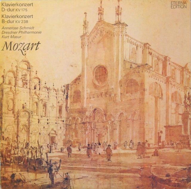 シュミット&マズアのモーツァルト/ピアノ協奏曲第5&6番 独ETERNA 2816 LP レコード