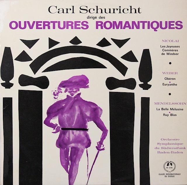 シューリヒトのロマンティック序曲集 仏CH 3298 LP レコード