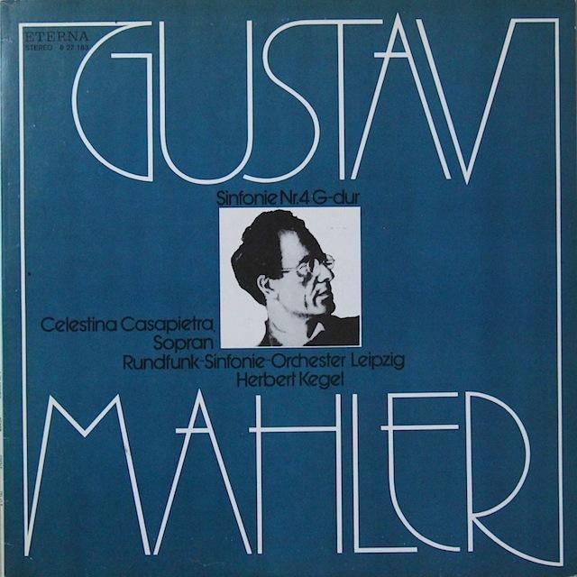 ケーゲルのマーラー/交響曲第4番 独ETERNA 2818 LP レコード