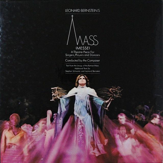 【直筆サイン入り】 バーンスタインの自作自演「歌手と演奏家、踊り手のためのミサ曲」 英CBS 3297 LP レコード