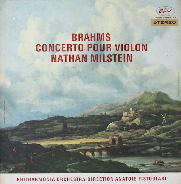 ミルシュタインのブラームス/ヴァイオリン協奏曲 仏Capitol 2818 LP レコード