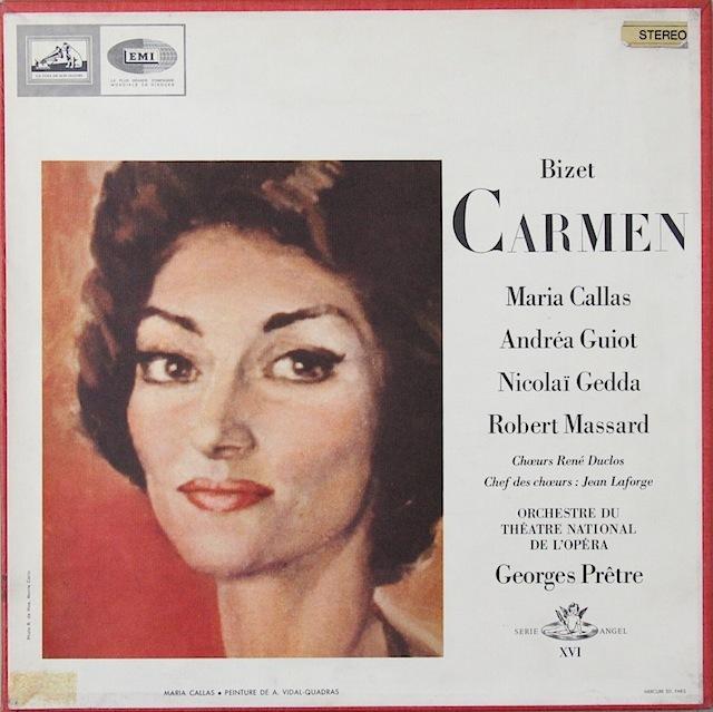 カラスのビゼー/「カルメン」全曲 仏EMI 2818 LP レコード
