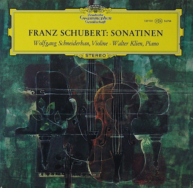 シュナイダーハンのシューベルト/ヴァイオリンとピアノのためのソナチネ第1~3番 独DGG 3297 LP レコード