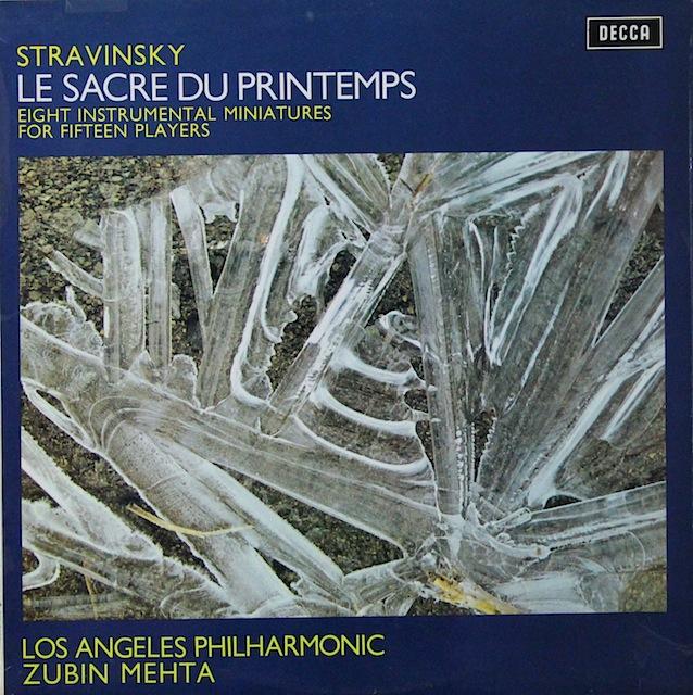 メータのストラヴィンスキー/「春の祭典」 英DECCA 3297 LP レコード