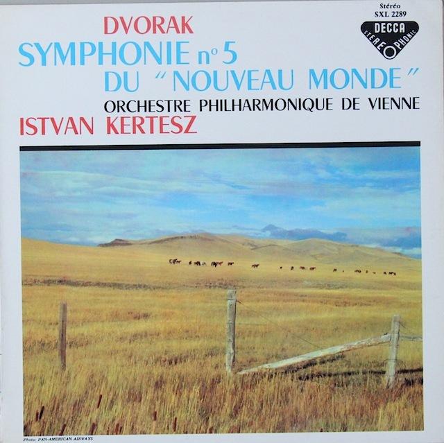 ケルテスのドヴォルザーク/交響曲第9(5)番「新世界より」 仏DECCA 2818 LP レコード