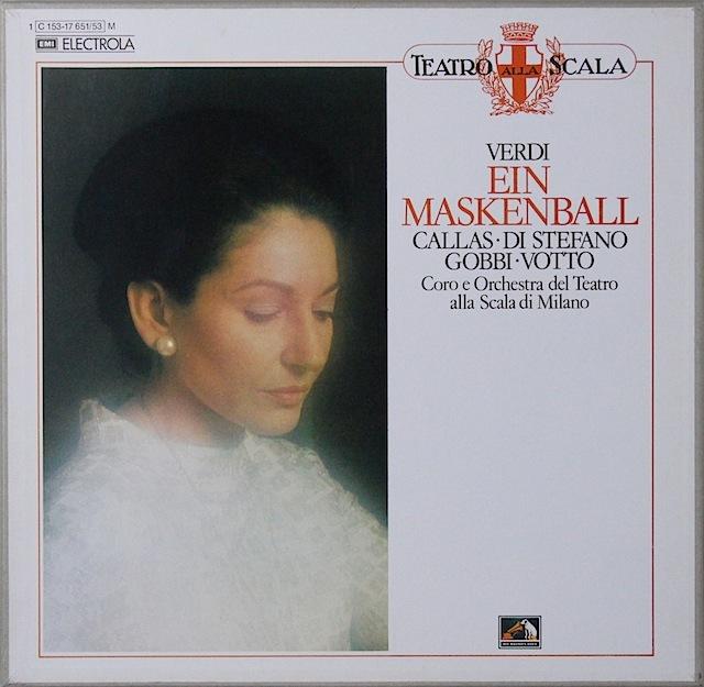 カラスのヴェルディ/「仮面舞踏会」全曲 独EMI 2820 LP レコード
