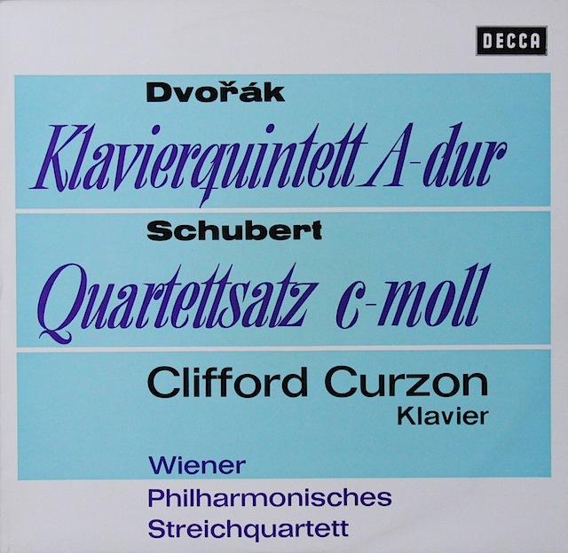 カーゾン&ウィーンフィル四重奏団のドヴォルザーク/ピアノ五重奏曲第2番ほか 独DECCA 3297 LP レコード