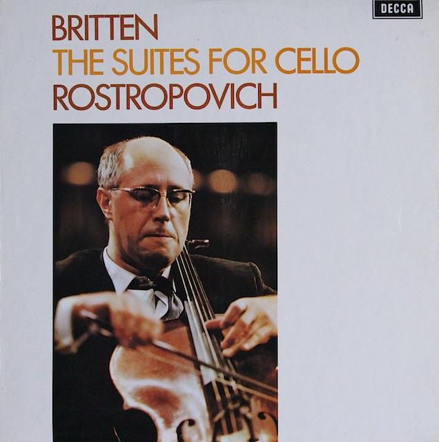 【オリジナル盤】 ロストロポーヴィチのブリテン/無伴奏チェロ組曲第1&2番 英DECCA 3297 LP レコード