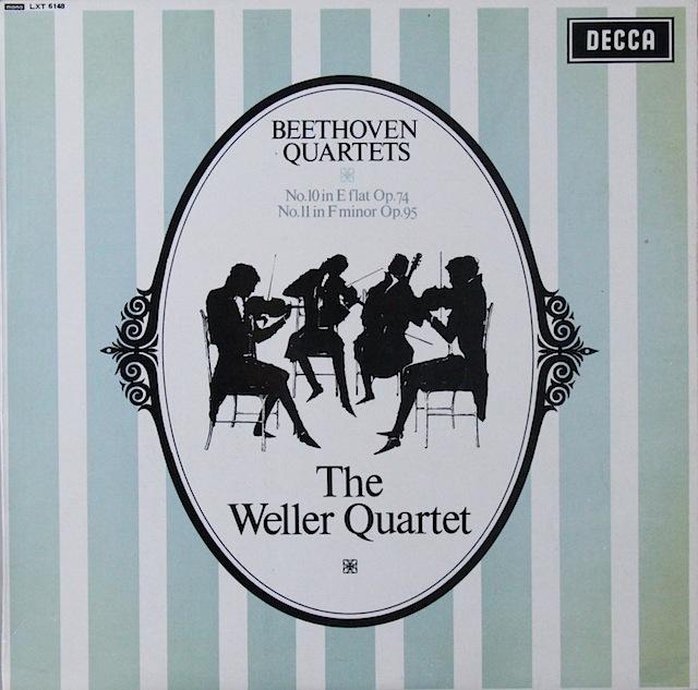 ウェラー四重奏団のベートーヴェン/弦楽四重奏曲第10&11番 英DECCA 2820 LP レコード