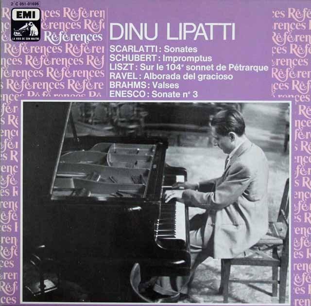 リパッティのスカルラッティ、シューベルトほかピアノ曲集 仏EMI 2901 LP レコード