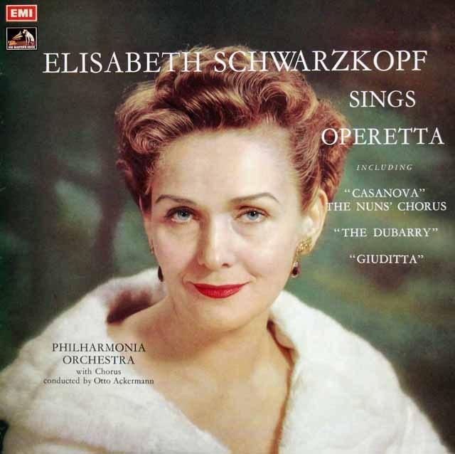 シュヴァルツコップのオペレッタ集 英EMI 2901 LP レコード