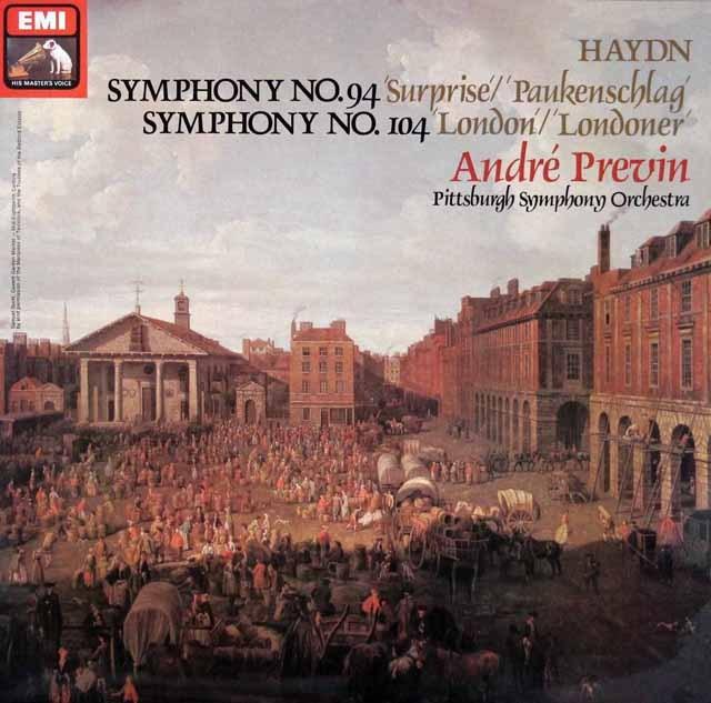 【オリジナル盤】 プレヴィンのハイドン/交響曲「驚愕」&「ロンドン」 英EMI 3286 LP レコード