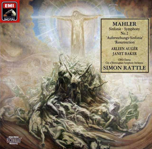 ラトルのマーラー/交響曲第2番「復活」 独EMI 2901 LP レコード