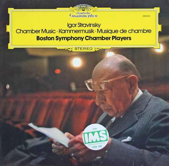 ボストン交響楽団室内アンサンブルのストラヴィンスキー/室内楽曲集 独DGG 3286 LP レコード