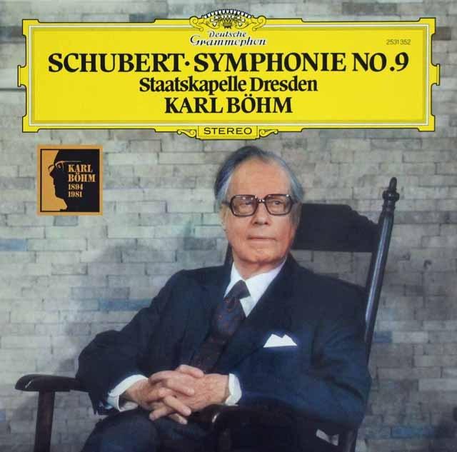 ベームのシューベルト/交響曲第9番「グレイト」 独DGG 2901 LP レコード