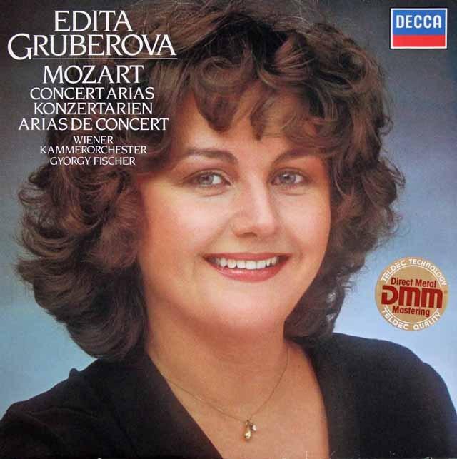 グルベローヴァのモーツァルト/コンサート・アリア集 独DECCA 2901 LP レコード