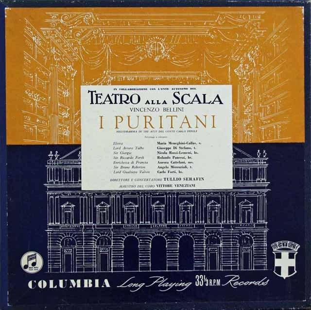 【オリジナル盤】カラスのベッリーニ/歌劇「清教徒」  英Columbia 2903 LP レコード