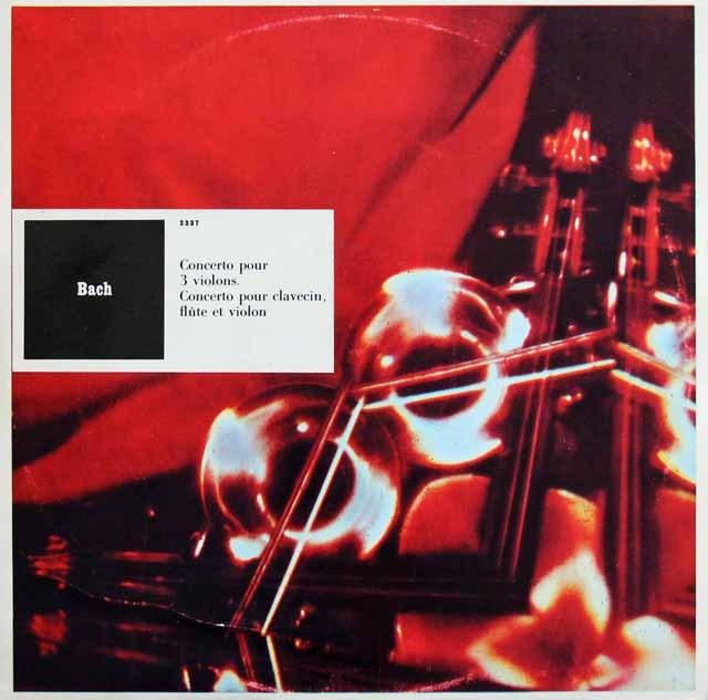 リステンパルトらのバッハ/ 3つのヴァイオリンのための協奏曲ほか 仏CF 2903 LP レコード