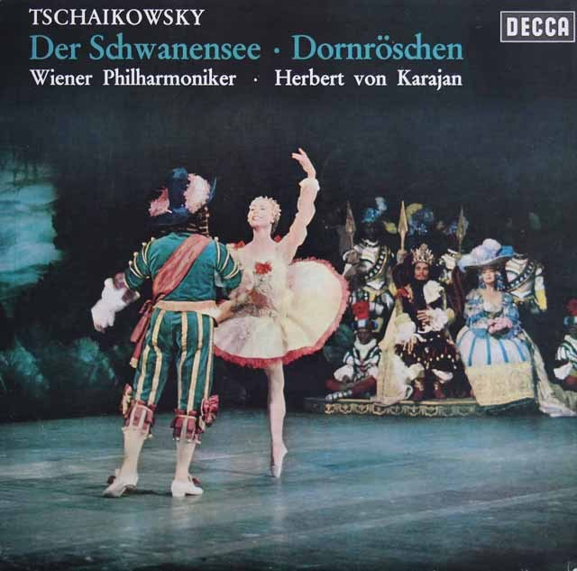 カラヤンのチャイコフスキー/「白鳥の湖」&「眠りの森の美女」組曲 独DECCA 2903 LP レコード