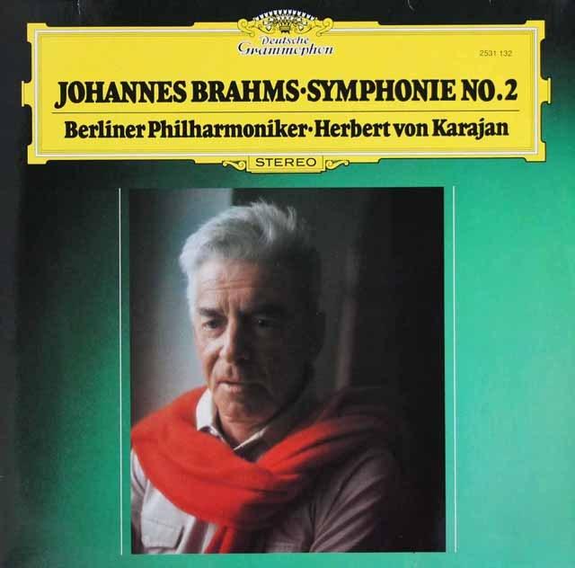 カラヤンのブラームス/交響曲第2番  独DGG 2903 LP レコード