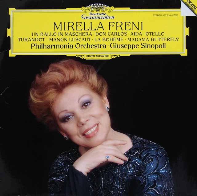 フレーニ&シノーポリのヴェルディ&プッチーニ/オペラ・アリア集  独DGG 2903 LP レコード