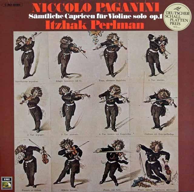 パールマンのパガニーニ/24の奇想曲 独EMI 3285 LP レコード