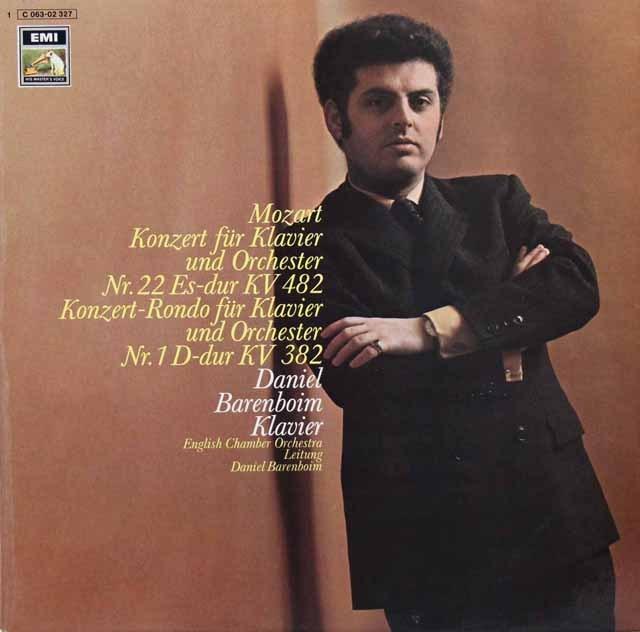 バレンボイムのモーツァルト/ピアノ協奏曲第22番ほか  独EMI 2903 LP レコード