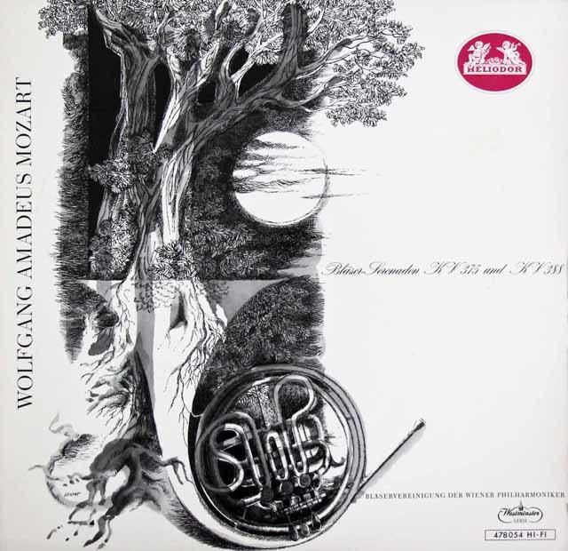 ウィーン・フィル管楽合奏団のモーツァルト/セレナード第11&12番  独HELIODOR 2904 LP レコード