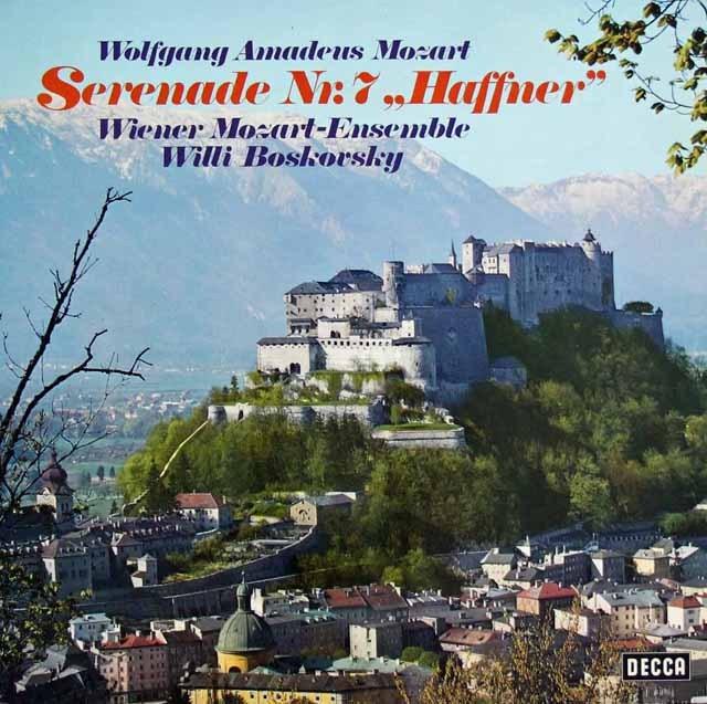 ボスコフスキーのモーツァルト/セレナーデ第7番「ハフナー」  独DECCA 2904 LP レコード