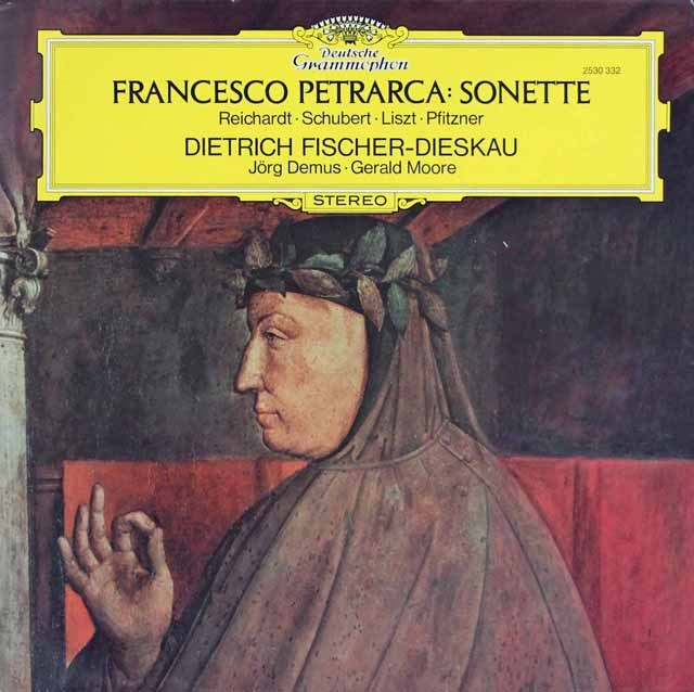 F.ディースカウのペトラルカのソネット集 独DGG 3285 LP レコード