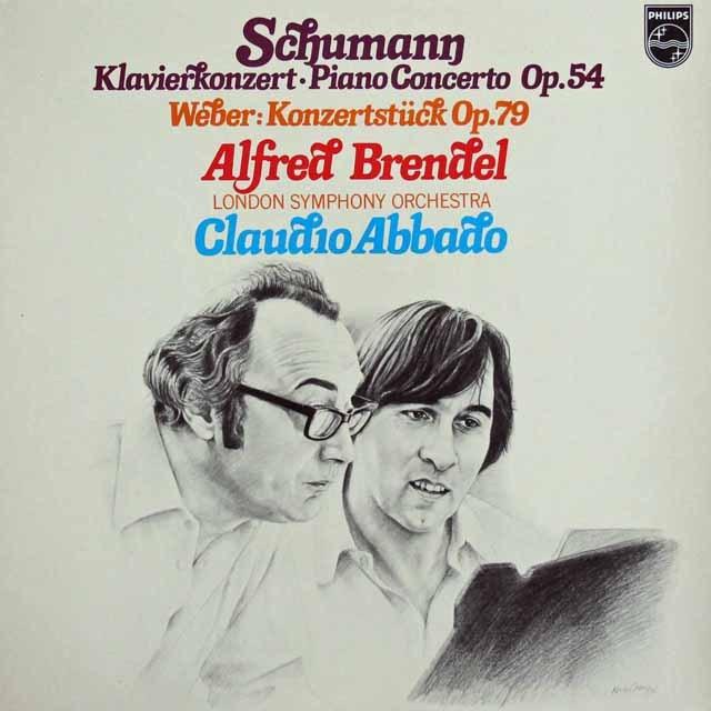 ブレンデル&アバドのシューマン/ピアノ協奏曲ほか  蘭PHILIPS 3285 LP レコード