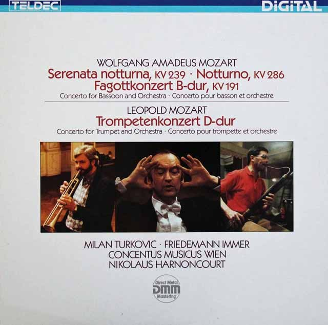 アーノンクールのモーツァルト/「セレナータ・ノットゥルナ」ほか 独TELDEC 3285 LP レコード