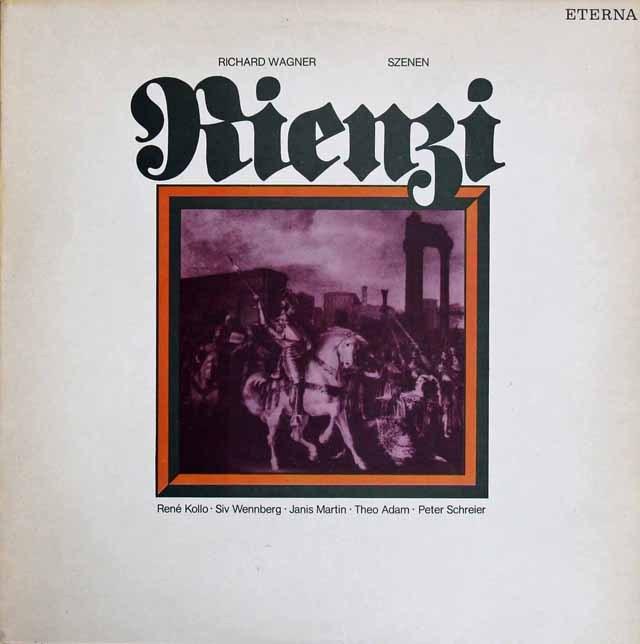 コロ、アダム、シュライアーらのワーグナー/「リエンツィ」抜粋 独ETERNA 3285 LP レコード