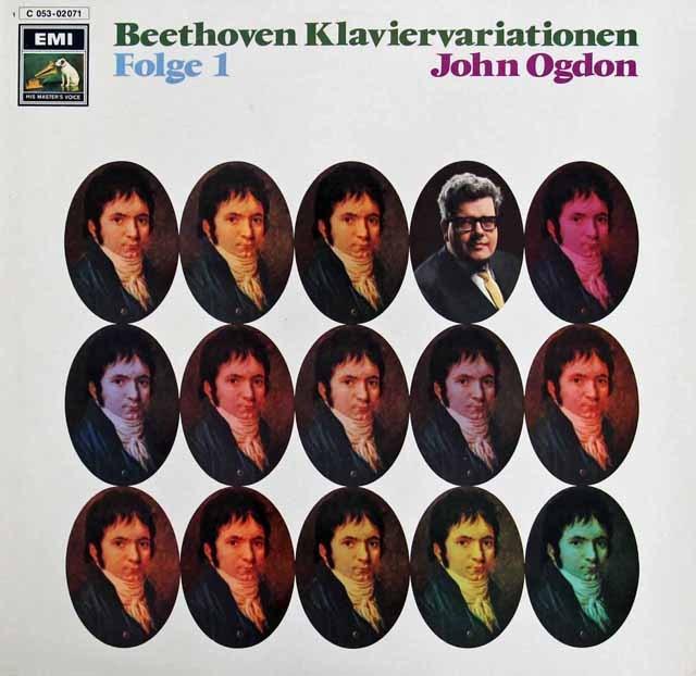 オグドンのベートーヴェン/ピアノ変奏曲集 vol.1 独EMI 3285 LP レコード