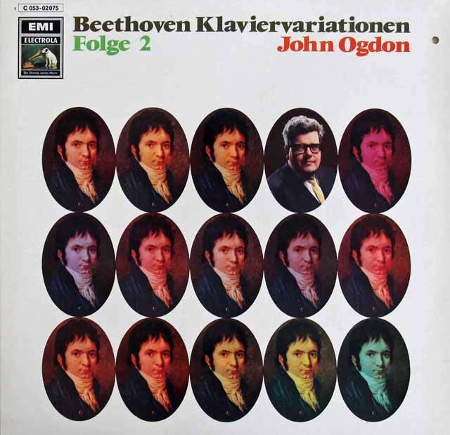オグドンのベートーヴェン/ピアノ変奏曲集 vol.2 独EMI 3285 LP レコード