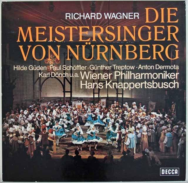 クナッパーツブッシュのワーグナー/「マイスタージンガー」 独DECCA 3285 LP レコード