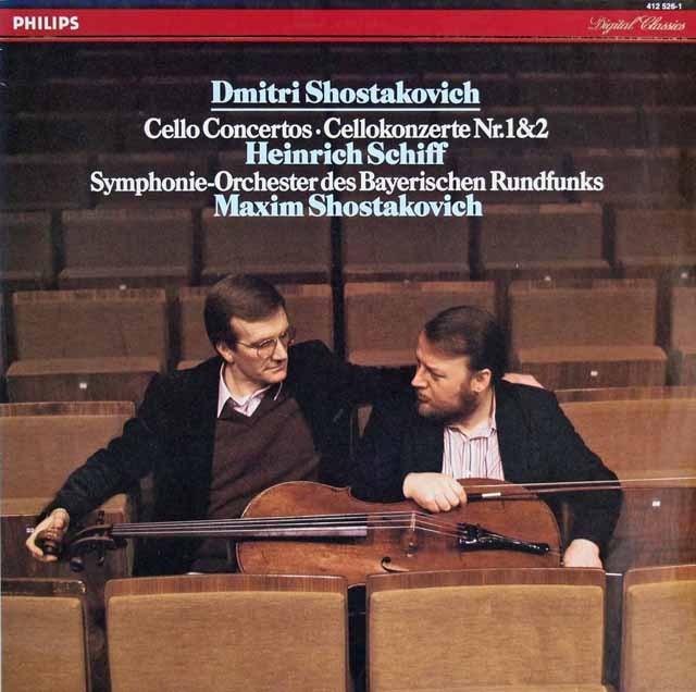 シフ&M.ショスタコーヴィチのショスタコーヴィチ/チェロ協奏曲第1&2番 蘭PHILIPS 2909 LP レコード