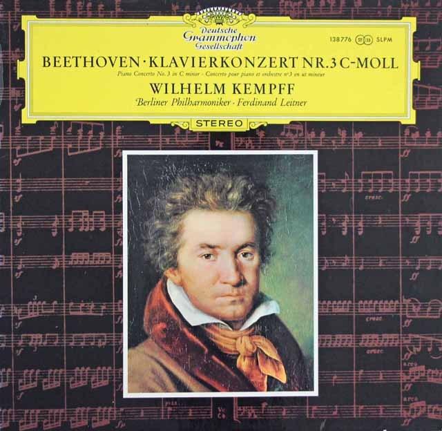 ケンプのベートーヴェン/ピアノ協奏曲第3番 独DGG 3284 LP レコード