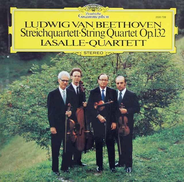 ラサール四重奏団のベートーヴェン/弦楽四重奏曲第15番 独DGG 2909 LP レコード