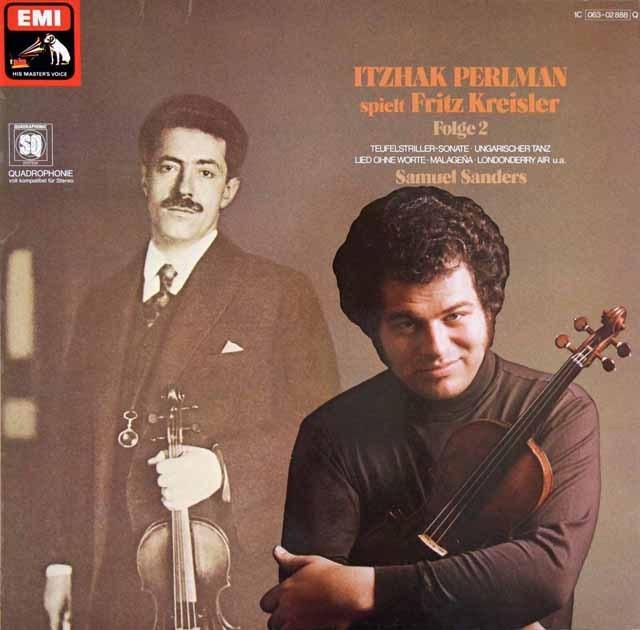 パールマンのクライスラー/ヴァイオリン名曲集 vol.2 独EMI 2909 LP レコード