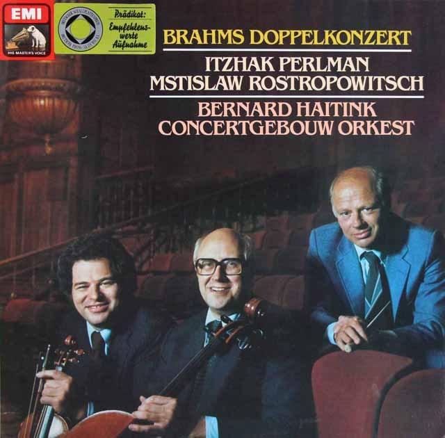 パールマン、ロストロポーヴィチ&ハイティンクのブラームス/二重協奏曲 独EMI 3284 LP レコード