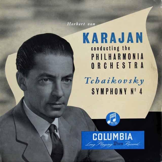 【オリジナル盤】 カラヤンのチャイコフスキー/交響曲第4番 英Columbia 3284 LP レコード