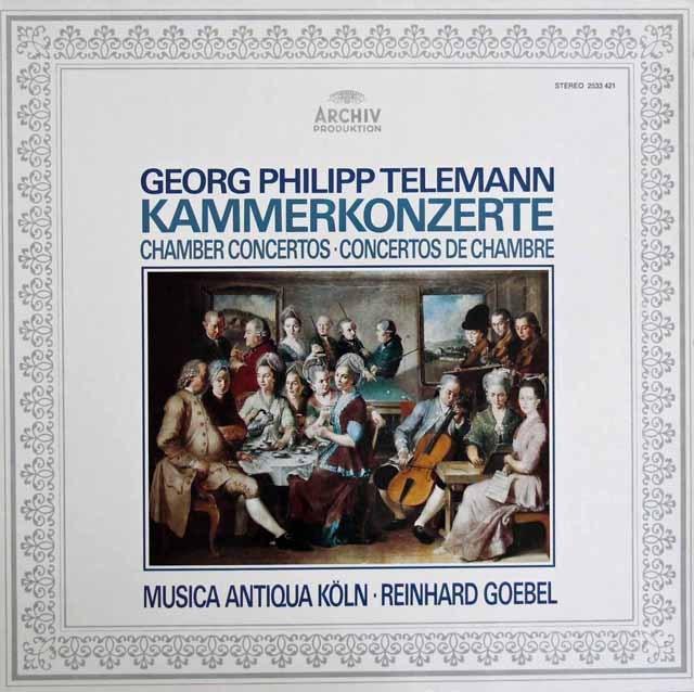 ムジカ・アンティクヮ・ケルンのテレマン/協奏曲集 独ARCHIV 2911 LP レコード