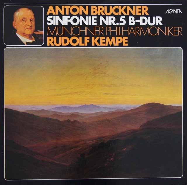 ケンペのブルックナー/交響曲第5番 独ACANTA 2913 LP レコード