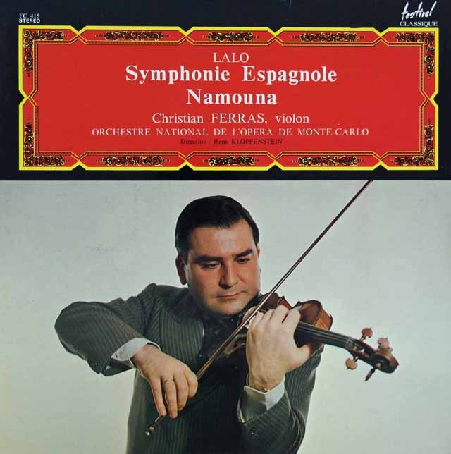 フェラスのラロ/「スペイン交響曲」ほか 仏festival 3284 LP レコード