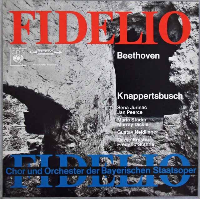 クナッパーツブッシュのベートーヴェン/「フィデリオ」全曲 独CBS 3284 LP レコード