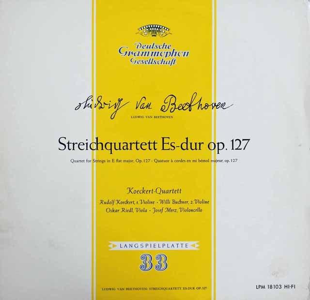 ケッケルト四重奏団のベートーヴェン/弦楽四重奏曲第12番 独DGG 2913 LP レコード