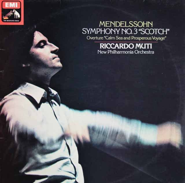 【オリジナル盤】ムーティのメンデルスゾーン/交響曲第3番「スコットランド」  英EMI 2913 LP レコード