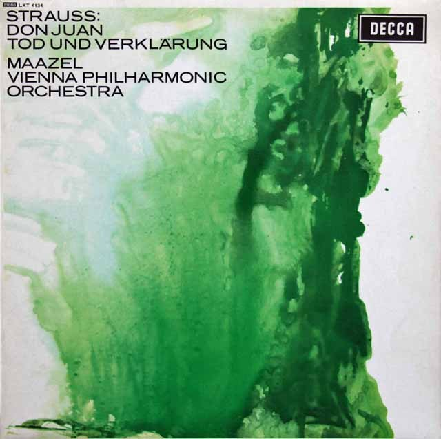 【モノラル】 マゼールのR.シュトラウス/「ドン・ファン」&「死と浄化」 英DECCA 3283 LP レコード